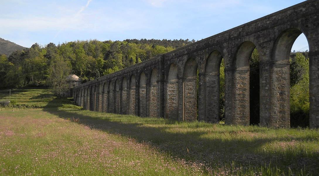 dove iniziano gli archi dell'acquedotto del Nottilini